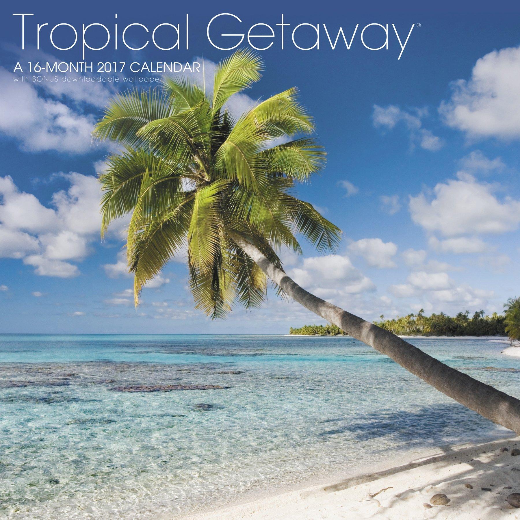 Tropical Getaway Wall Calendar Landmark product image