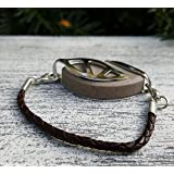 Coffee Leather Bolo Bracelet for Bellabeat LEAF