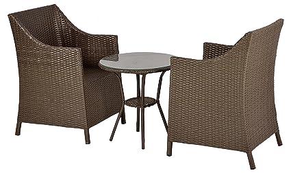 """FurniFutureâ""""¢ Catch Me Outdoor Patio Furniture Set 2+1 - (Beige)"""