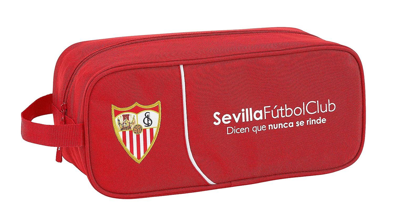F.C; sevilla 811856194 2018 Bolsa para Zapatos, 34 cm, Rojo F.C. Sevilla