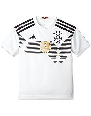 adidas Línea Selección Alemana Camiseta de Equipación, Niños, Blanco/Negro, 164-