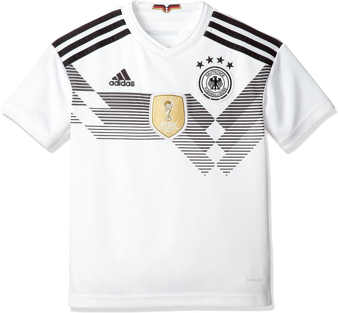 adidas DFB Home 2018 Camiseta de Equipación, Niños, Blanco/Negro ...