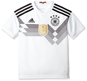 58b2a374804 adidas D04268 Children s German National Team Football Home Jersey WM 2018 Football  Shirt weiß schwarz