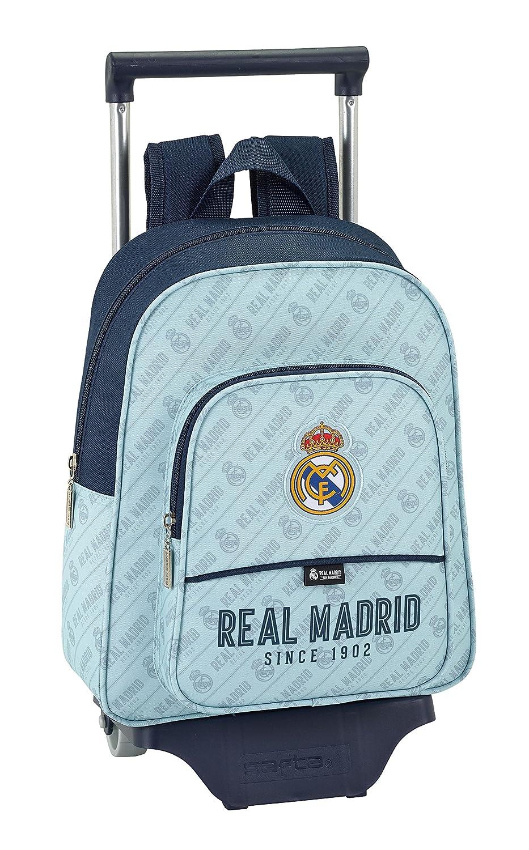 Safta Mochila Infantil Real Madrid Corporativa Oficial Con Carro Safta 125x95mm