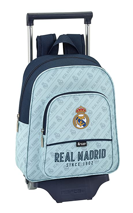 79c6238234d9 Real Madrid Corporativa Official School Backpack with Safta Trolley   Amazon.co.uk  Luggage