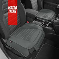 $33 » Motor Trend Gray Faux Leather Seat Covers for Front Seats, 2-Pack – Universal Padded Car…