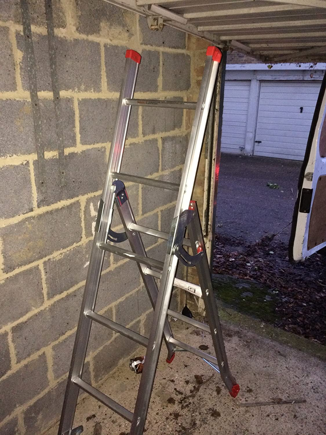 Big Red Foot 3 Way Combination Ladder / Ladders (Stair/Step/Extension):  Amazon.co.uk: DIY U0026 Tools