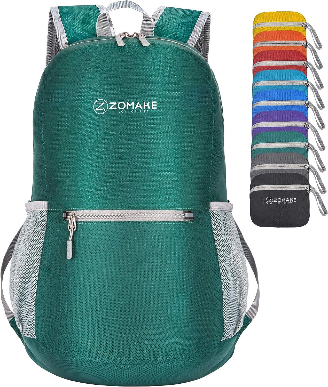 ZOMAKE Mochila Plegable Ligera 20L, Mochilas Pequeñas para Hombre Mujer, Mochilas Compacta para Viajar Senderismo