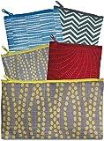 LOQI CO.EL Elements Collection Pouch-Set of 4 Reusable Bags, Multicolored