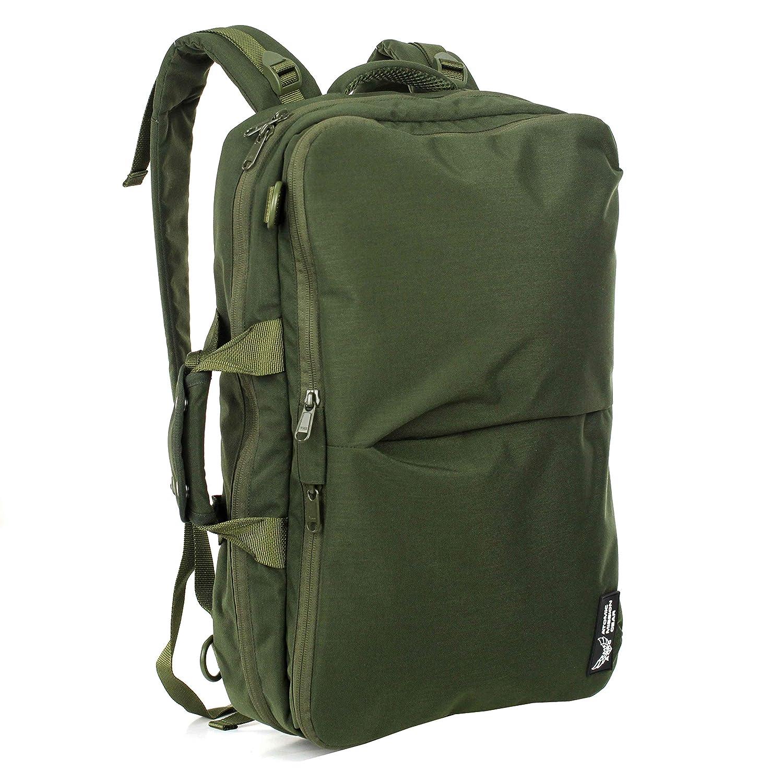 AMG Venture 万能バッグ バックパックとして水平または垂直に運ぶ ミリタリー風バッグ ODグリーン B07QG3YPF6
