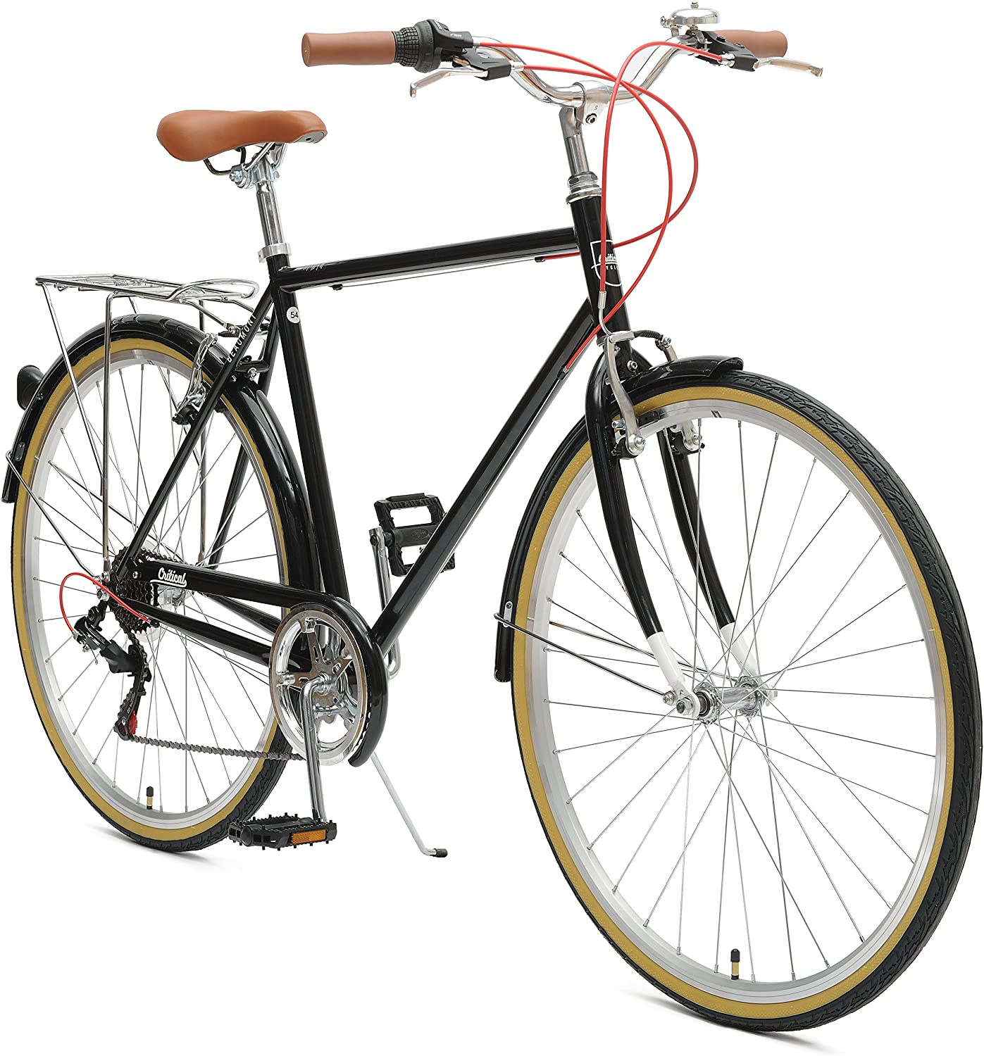 critical retrospec mens hybrid bike