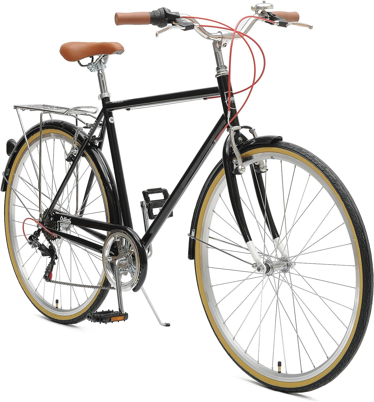 critical retrospec mens hybrid bike