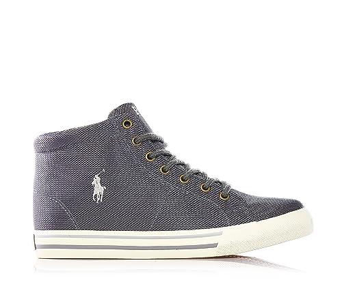 Polo Ralph Lauren - Gris Cordones Zapatillas, Hecho de sintético, niño, niño, niños, Hombre, Color Gris, Talla 31 EU Niño: Amazon.es: Zapatos y complementos