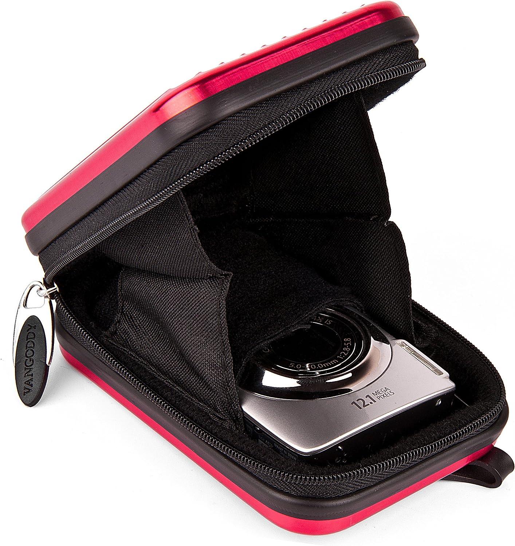 Vangoddy Pascal Mettalic Metal Case for Panasonic Lumix DMC SZ10 Digital Cameras and Screen Protector Pink
