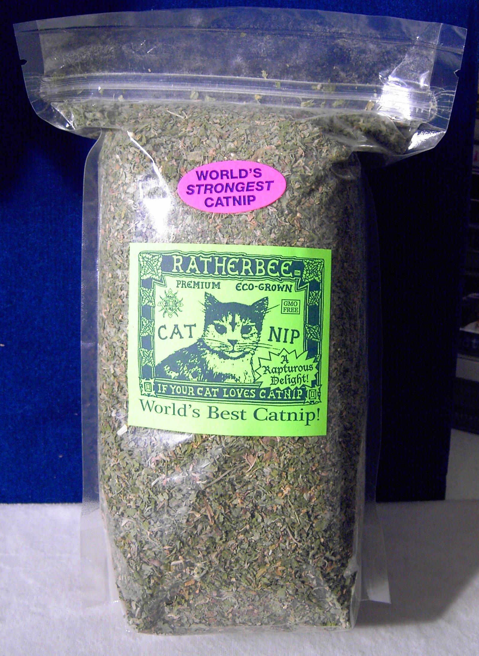 Ratherbee Premium Eco-Grown Catnip Loose Bulk 1/3 Pound Bag