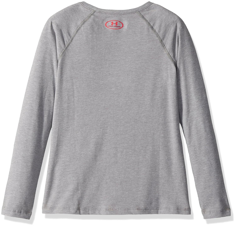 cf33c91d Amazon.com: Under Armour Girls' Cross Branded Long Sleeve T-Shirt: Clothing