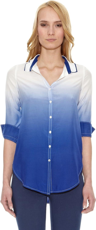 Pedro del Hierro Camisa Degrade Azul L: Amazon.es: Ropa y accesorios
