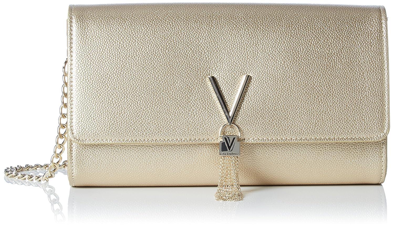 Mario Valentino Damen Divina Clutch, 4.5x12x27 cm Gold (ORO) Valentino by Mario Valentino VBS1R401G