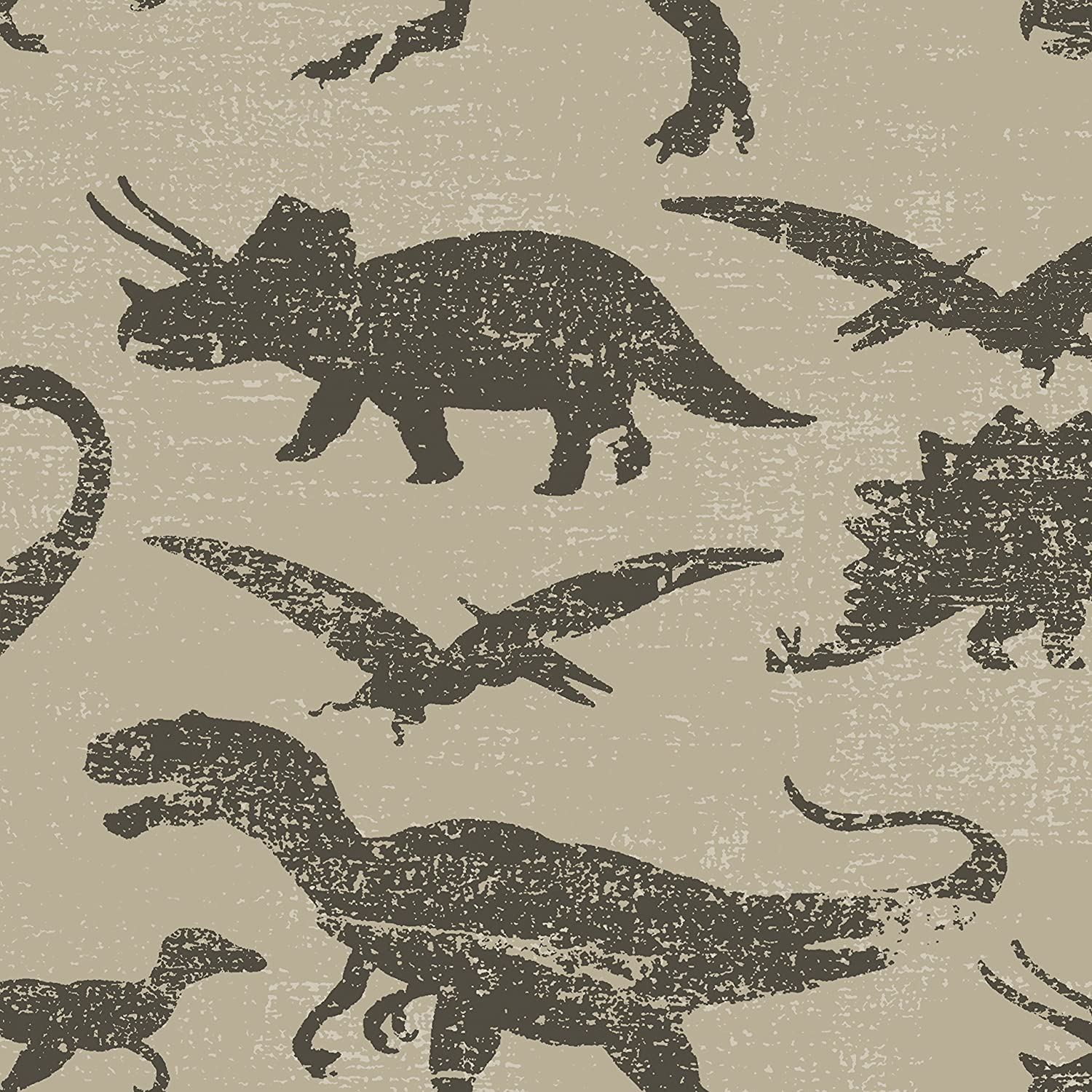 Stripes Self-Adhesive Removable Dinosaurs-Navy and Green Multi Tempaper TK620 Kids Borders