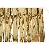 2-Ply FR Metallic Fringe Drape (gold) Party Accessory  (1 count)