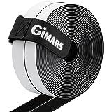 GIMARS Velcro Strisce Laccio Adesivo, Velcro e Ganci 20mm di Larghezza 6M di Lunghezza, incl. Una Fascetta con Fibbia, Nero