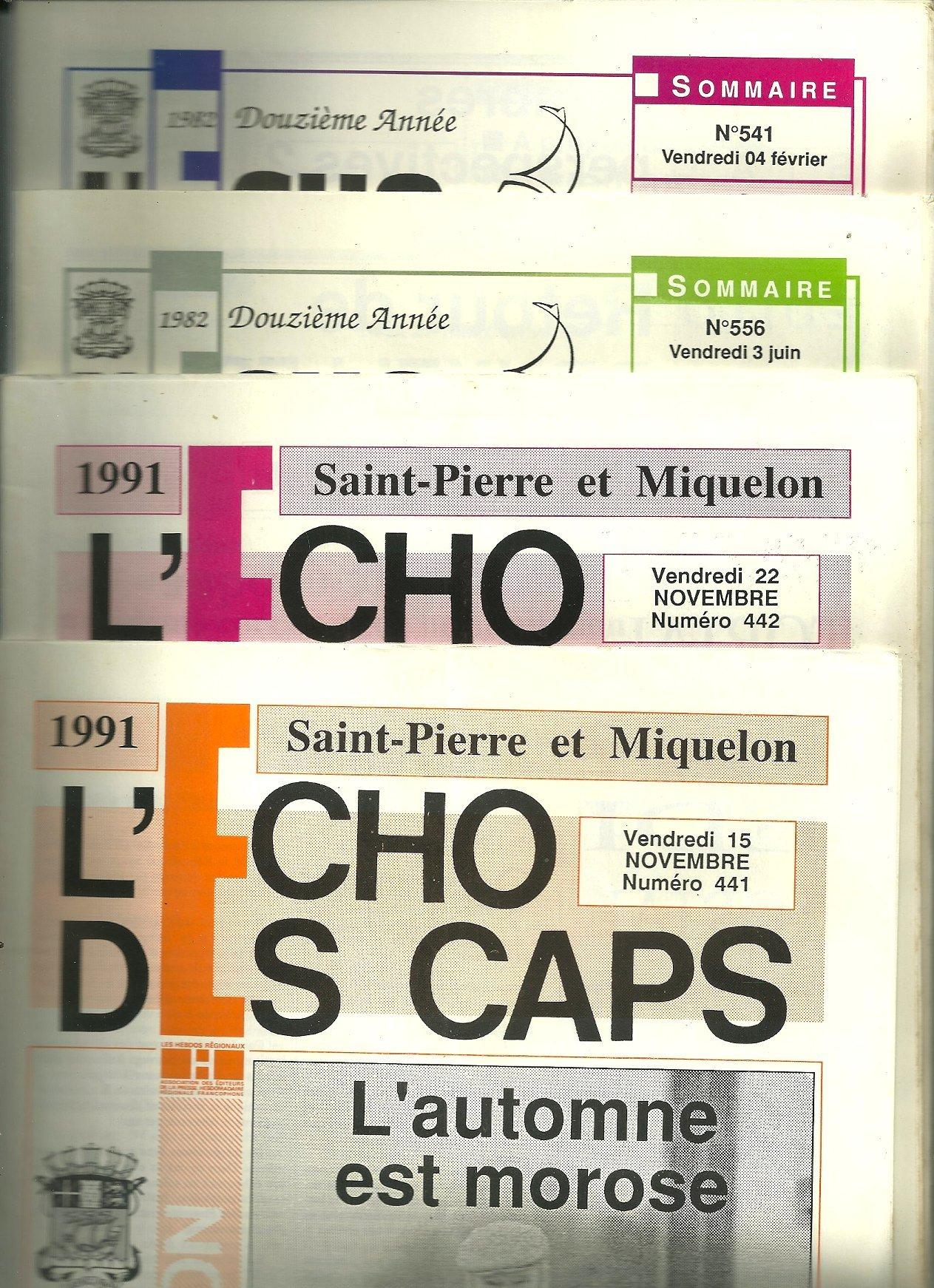 L Echo Des Caps 4 Numeros N S 441 442 556 541 Saint Pierre Et
