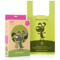 Earth Rated 120-Count Dog Waste Bags, Biodegradable Lavender-Scented Pooh Bags with Easy-tie Handles (not on rolls)
