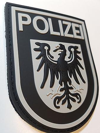 Atg Ärmelabzeichen Polizei Brandenburg 3 D Rubber Patch Blackops Auto