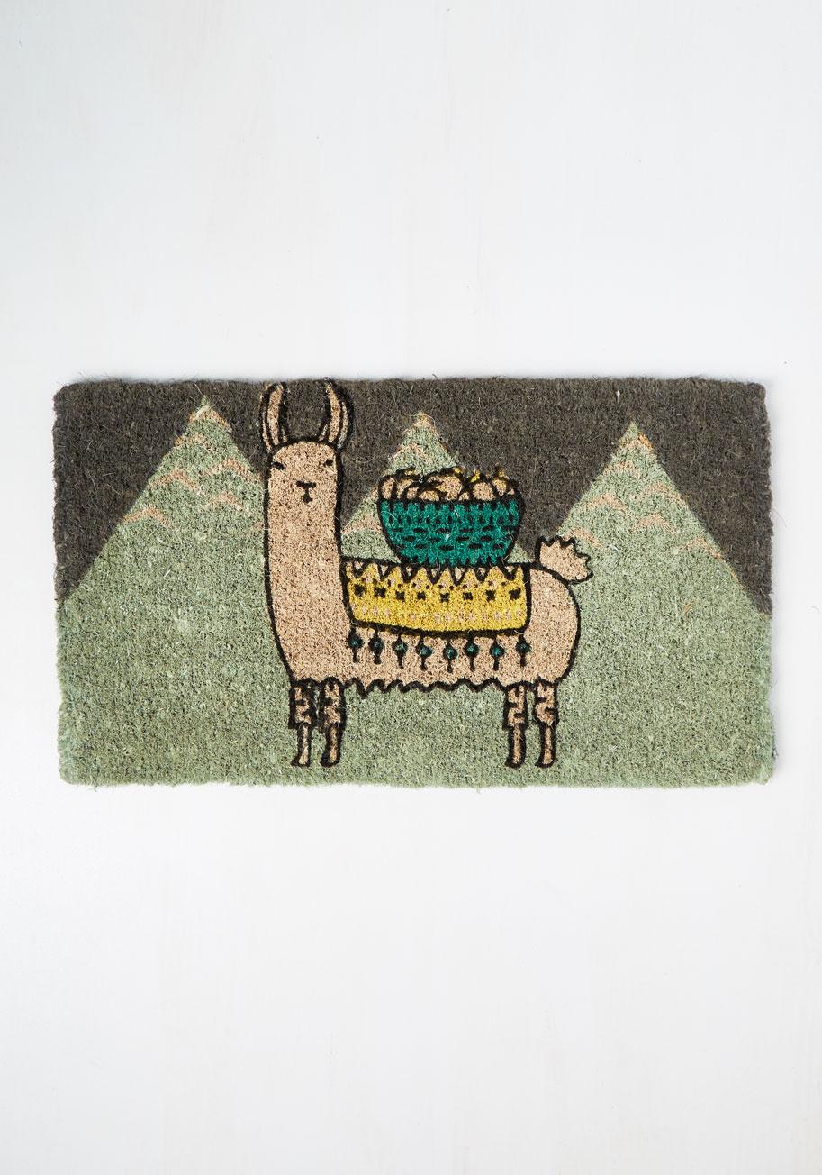 Llama, I'm Coming Home Doormat | Mod Retro Vintage Decor Accessories | ModCloth.com
