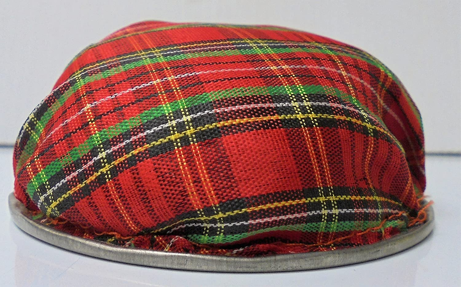 Red Plaid Fabric Weighted Ashtray SKU:Ash11-R