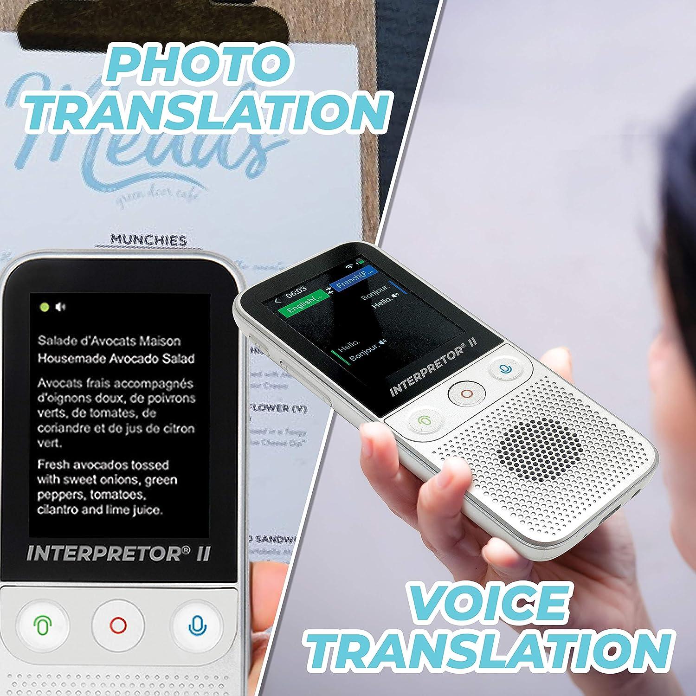 Mehrsprachig /Übersetzer Foto/übersetzung Memo-/Übersetzung WLAN und Offline Kopfh/öreranschluss Lexibook NTL3000 Interpretor 2-137 Sprachen Instant Sprach/übersetzer Sprechen
