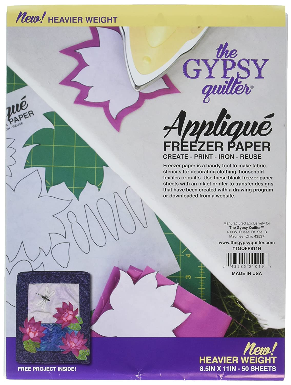 "Gypsy Quilter TGQFP811H Freezer Paper 8 1/2"" x 11"" Heavy Weight"