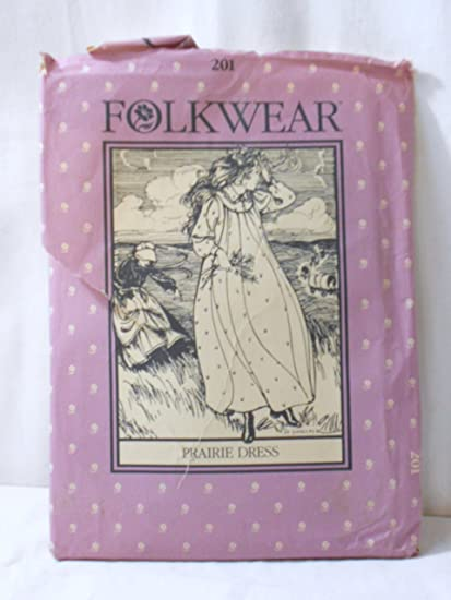 d9718470c7 Image Unavailable. Image not available for. Color  Prairie Dress and Nightgown  Pattern Folkwear 201 ...