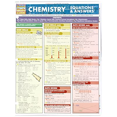 Bar Charts Chemistry Equations and Answers: Toys & Games