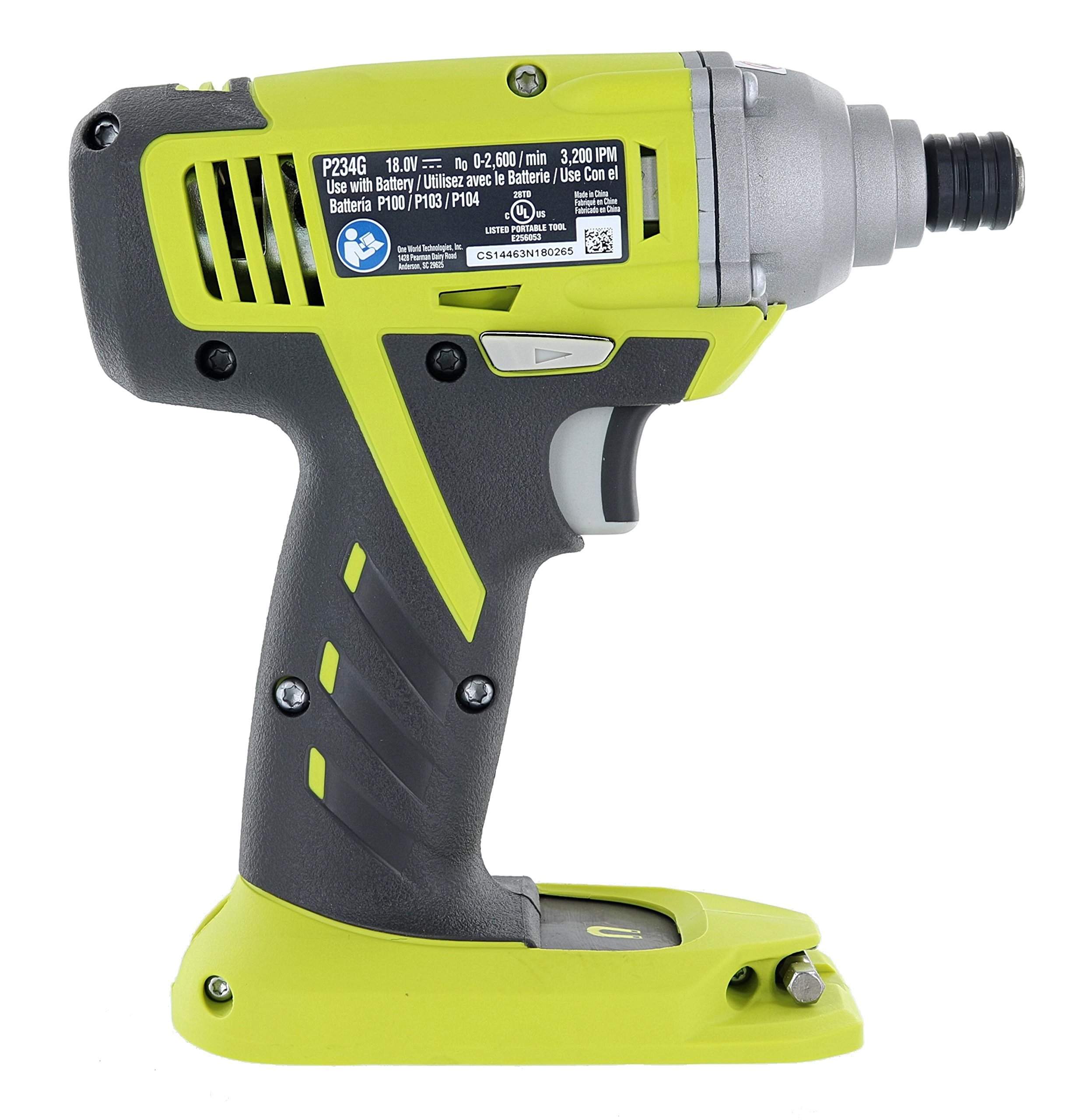 Ryobi P234g One+ 18-Volt Lithium Ion Cordless Impact Driver (Battery Not Included / Power Tool Only) (Certified Refurbished) by Ryobi (Image #3)