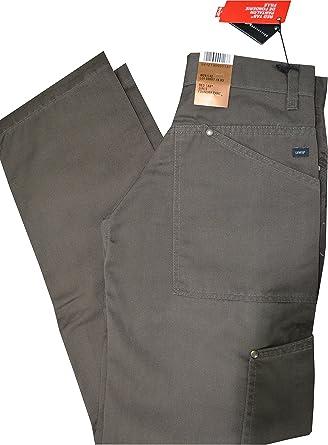 levis pantalon femme toile noire ample