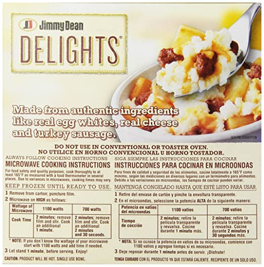 Jimmy Dean D-Lights Turkey Sausage Bowl, 7 oz (Frozen): Amazon.com: Grocery & Gourmet Food