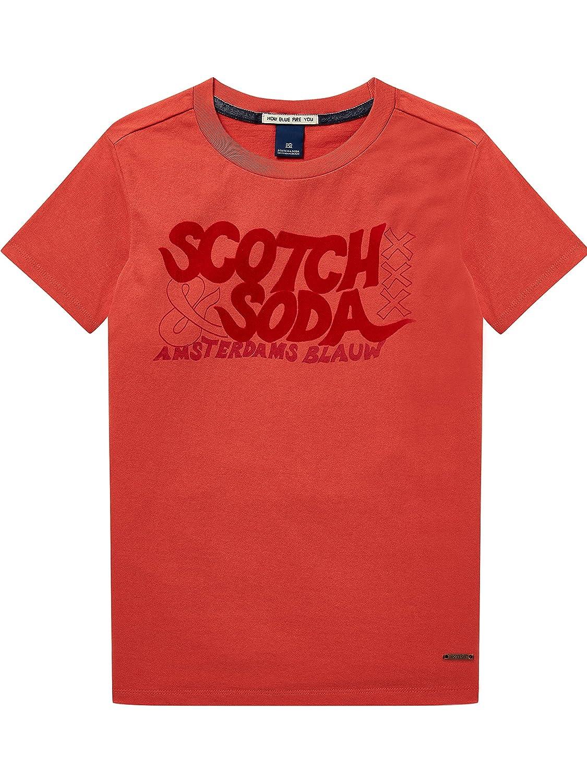 Scotch & Soda Jungen T-Shirt Regular Fit Short Sleeve Tee with Arwork Scotch & Soda Shrunk 144379