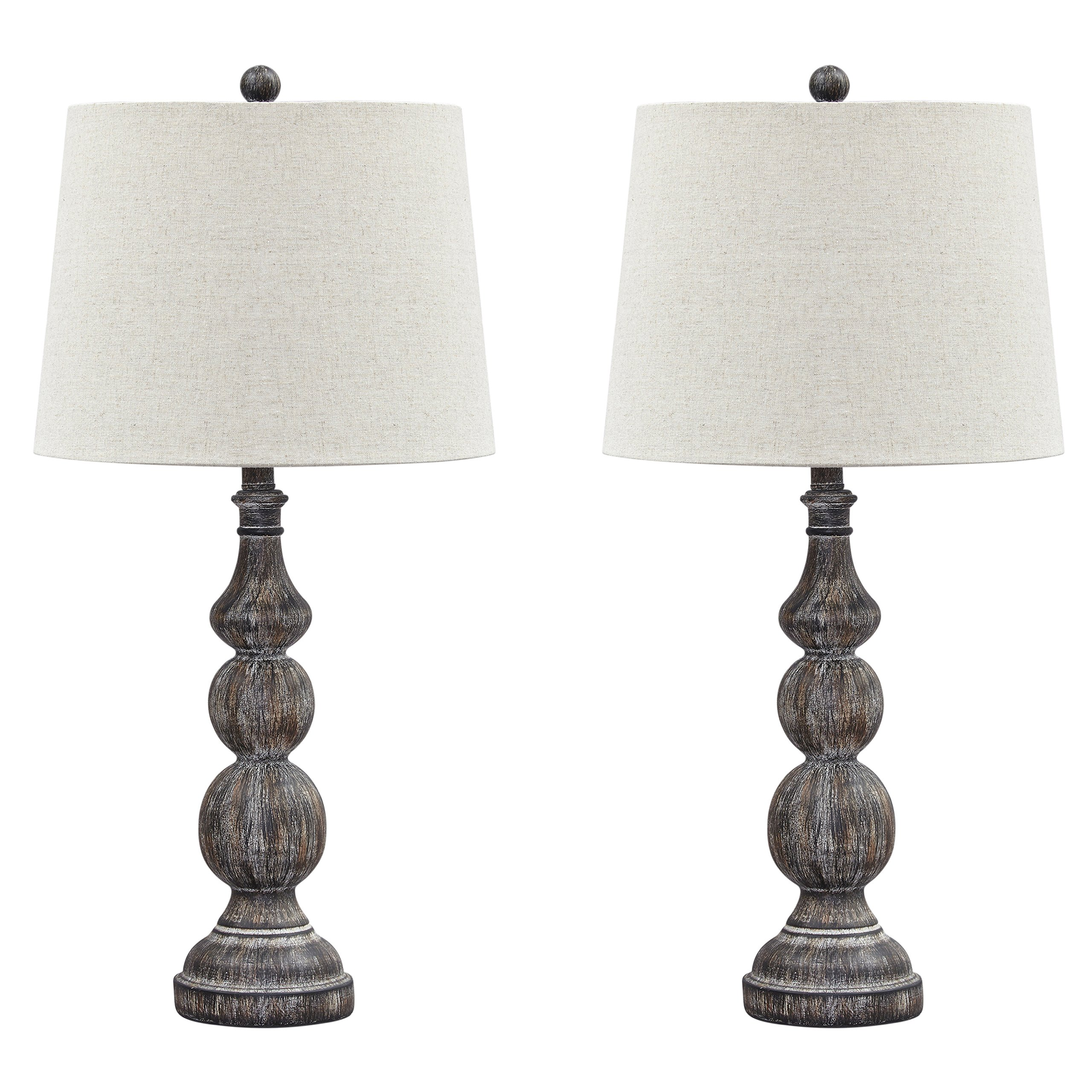 Ashley Furniture Signature Design - Mair Poly Table Lamps - Set of 2 - Timeworn Finish - Antique Black by Signature Design by Ashley