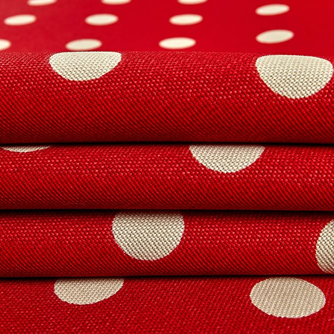 """54/"""" W Sold by the yard Printed Indoor//Outdoor Waterproof Polka Dots RED Fabric"""