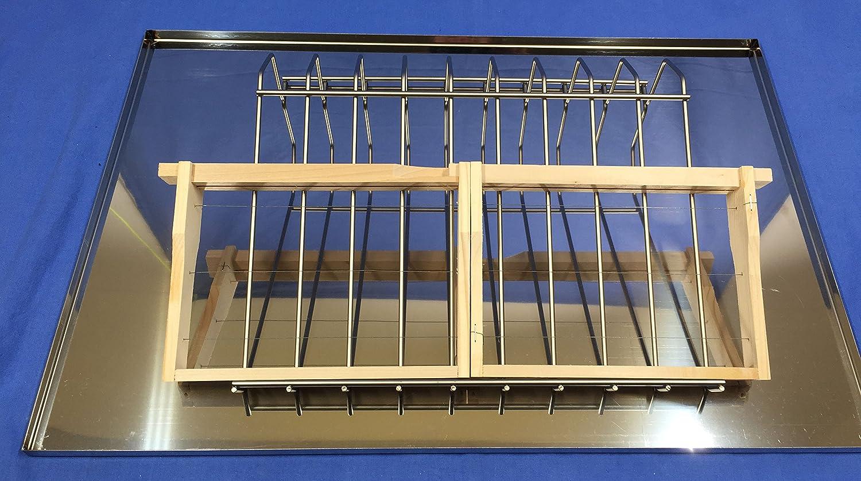 Lega Couvercle en Acier Inoxydable pour entdecklungs vaisselle Dimensions env. 61x 41cm