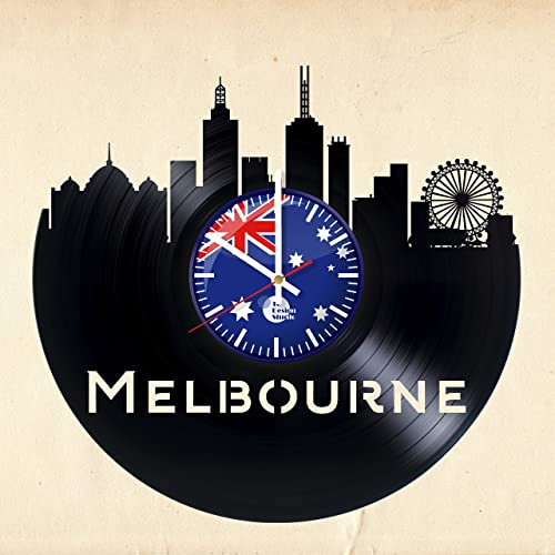 amazon com melbourne australia vinyl record wall clock get