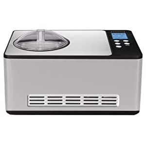 Whynter ICM-200LS Stainless Steel Ice Cream Maker, 2.1-Quart, Silver