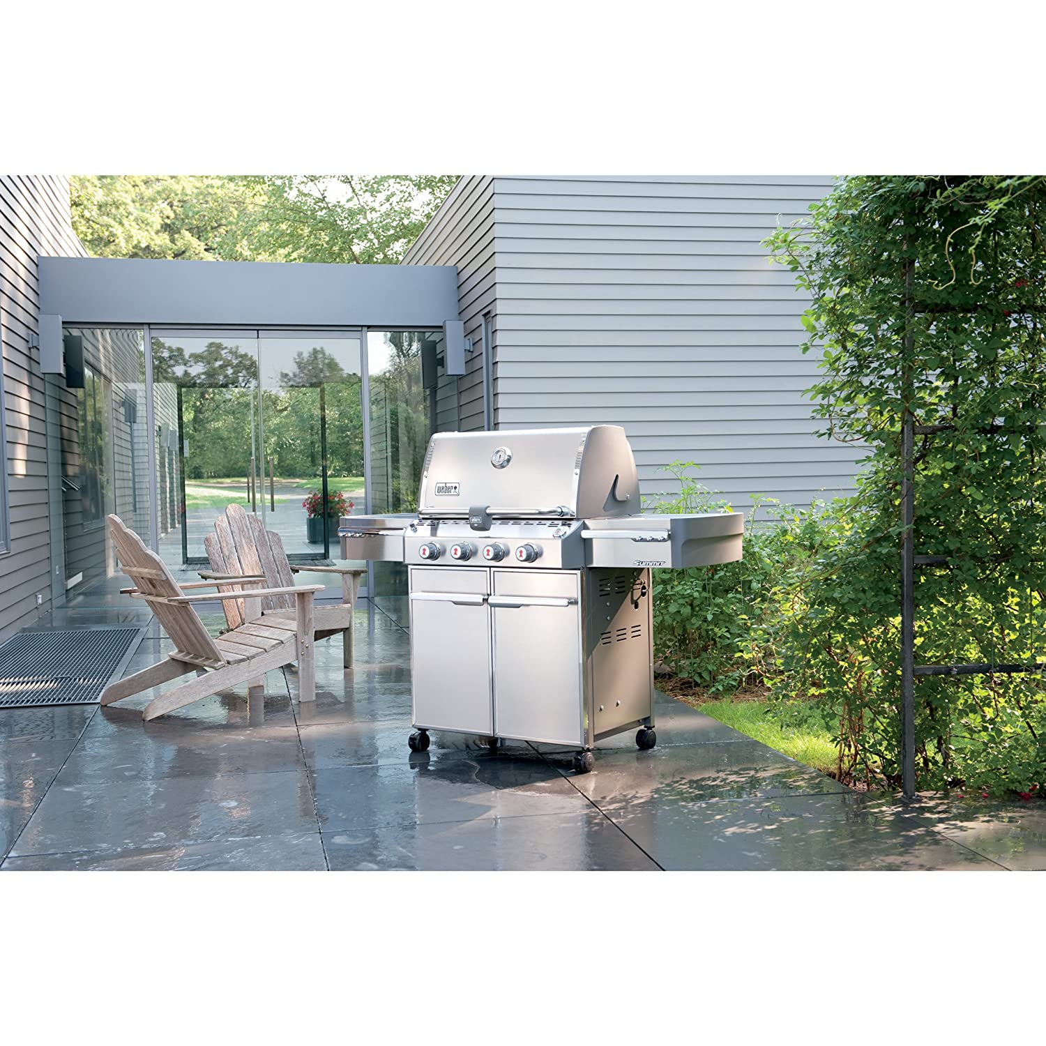 Amazon.com: Weber Summit 7120001 S-420 Stainless-Steel 650-Square ...