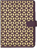 Trendz Patterned Protective Laser Cut Design Flip Folio Case Cover with Built-in Stand for iPad Air - Purple