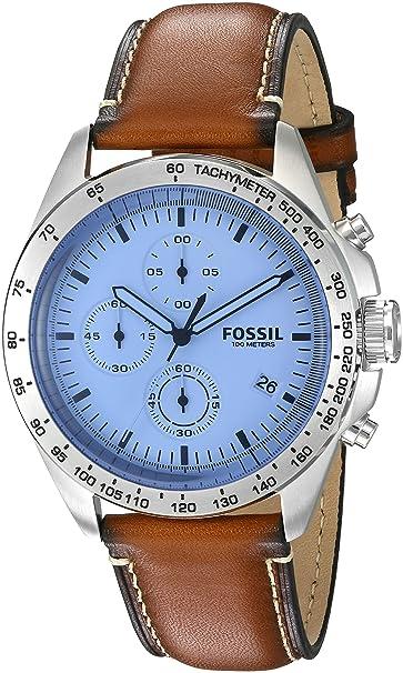 Fósil de Hombre ch3022 Deporte 54 - Reloj cronógrafo con Correa de Piel Color marrón: Amazon.es: Relojes