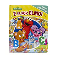 Sesame Street - E is for Elmo! ABCs - My First Look and Find Activity Book - PI Kids