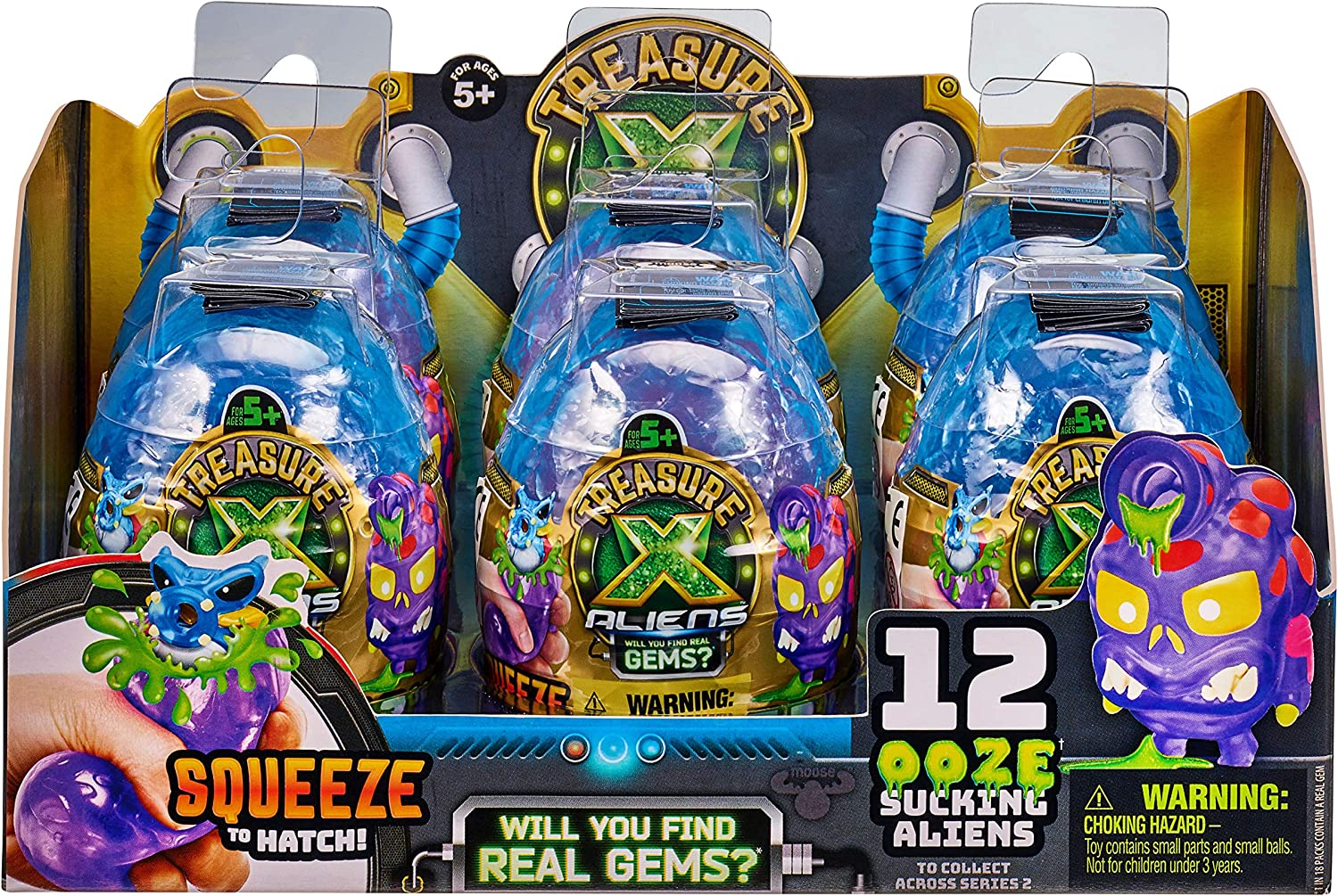 with a Pinchy Treasure X Aliens Ooze Egg 2 Pack