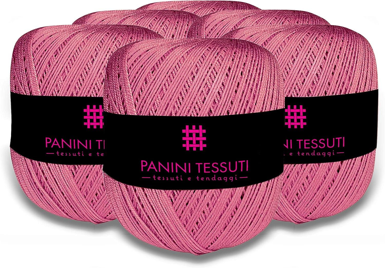100/g Titolo 5 Arancio 307 12 italienisch 100 /% Baumwolle 8 Gr/ö/ßen: 5 Panini Tessuti H/äkelgarn