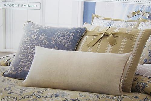 Martha Stewart Collection Bedding, Regent Paisley 3 Piece Decorative Pillow Set